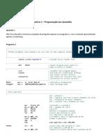 MSP430 - Experimento em assembly