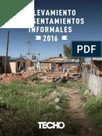 Informe Relevamiento TECHO 2016