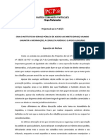 ACESSO AO DIREITO - PROPOSTA PCP