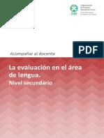 La Evaluacion en El Area de Lengua -Secundaria