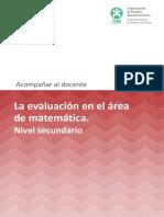 La Evaluacion en El-Area de Matematica Secundaria