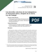 A. BT. Los Derechos Colectivos de Los Trabajadores en Venezuela Antes y Después de La Nueva Ley Del Trabajo. Venezuela