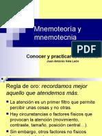 Mnemoteoría y Mnemotecnia