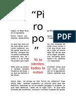 Según La Real Academia Española El Significado de Piropo Es El Siguiente