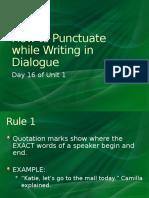 methods dialogue punctuation mini-lesson