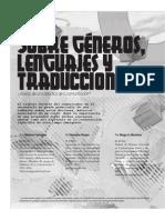 Sobre Géneros, Lenguajes y Traducciones