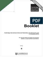 9701 Chemistry Data Booklet 2016