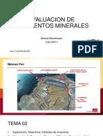 Tema 2 - Evaluacion de Yacimientos Minerales 2017-1