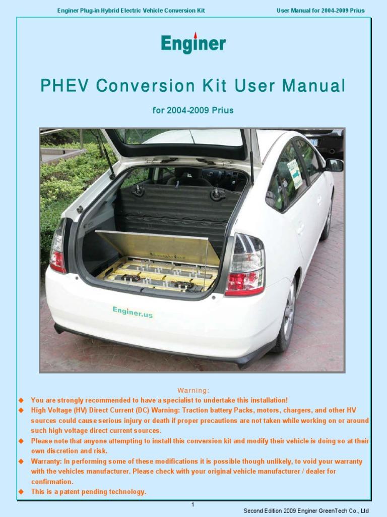 Enginer PHEV User Manual Generation 2 Prius | Plug In Hybrid | Hybrid  Electric Vehicle