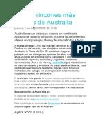 Los 10 Rincones Más Bonitos de Australia