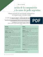 20161227 - Inta - Determinacion Nutric. Carne Pollo Arg