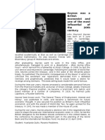 Keynes was a British economist and one of the most influential of the 20th century.docx