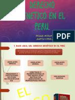 Diapo Derecho Genetico en El Peru