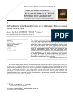 Intrauterine Growth Restriction New Standards for Assessing Adverse Outcome 2009 Best Practice Research Clinical Obstetrics Gynaecology