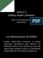 Galileo Kepler Newton