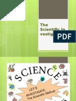 Lesson M1 the Scientific Investigation