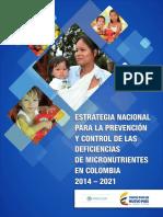 Estrategia Nacional Prevencion Control Deficiencia Micronutrientes
