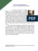 Texto Latino Lucas 1-26-38 Anunciacao Do Anjo a Maria