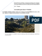 2016. DIARIO RIO NEGRO. Defensas de Aluviones Son Usadas Para Hacer Viviendas