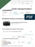 Descargas de software y controladores HP para impresoras, PC portátiles, PC de escritorio y otros productos HP _ Soporte al cliente de HP®