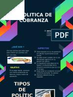 POLÍTICAS DE COBRANZA