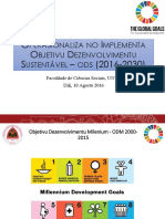 Dr Rui Araujo - Apresentação SDGs Na UNTL 2016