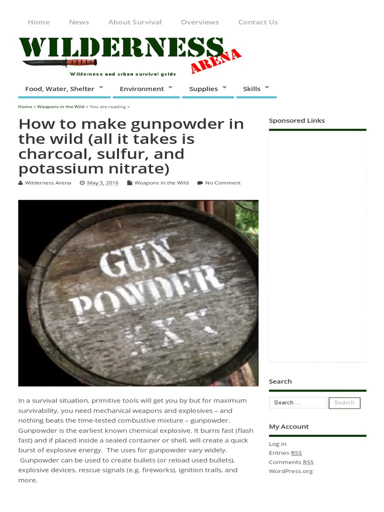 How to Make Gunpowder in the Wild | Gunpowder | Potassium