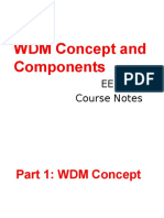 WDM Concept and Components