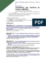 EXERCÍCIOS COMENTADOS - Legislação aplicada ao MPU para o Cargo 46 Técnico Administrativo