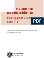 Harm reduction in nicotine addiction