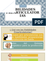 Habilidades prearticulatorias