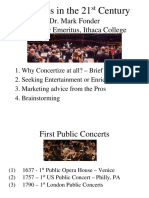 concerts in 21st century ppt
