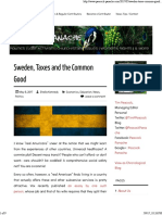 sweden taxes and the common good