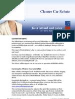 Cleaner Car Rebate - Fact Sheet