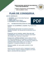 Plan de Consejeria