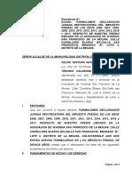 Formula Declaracion Jurada Rectificatoria Del 9impuestop a La Renta