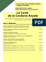 Carte été 2010 de la Corderie Royale par Nicolas Durif et son équipe