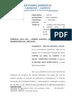 Escrito deposito judicial