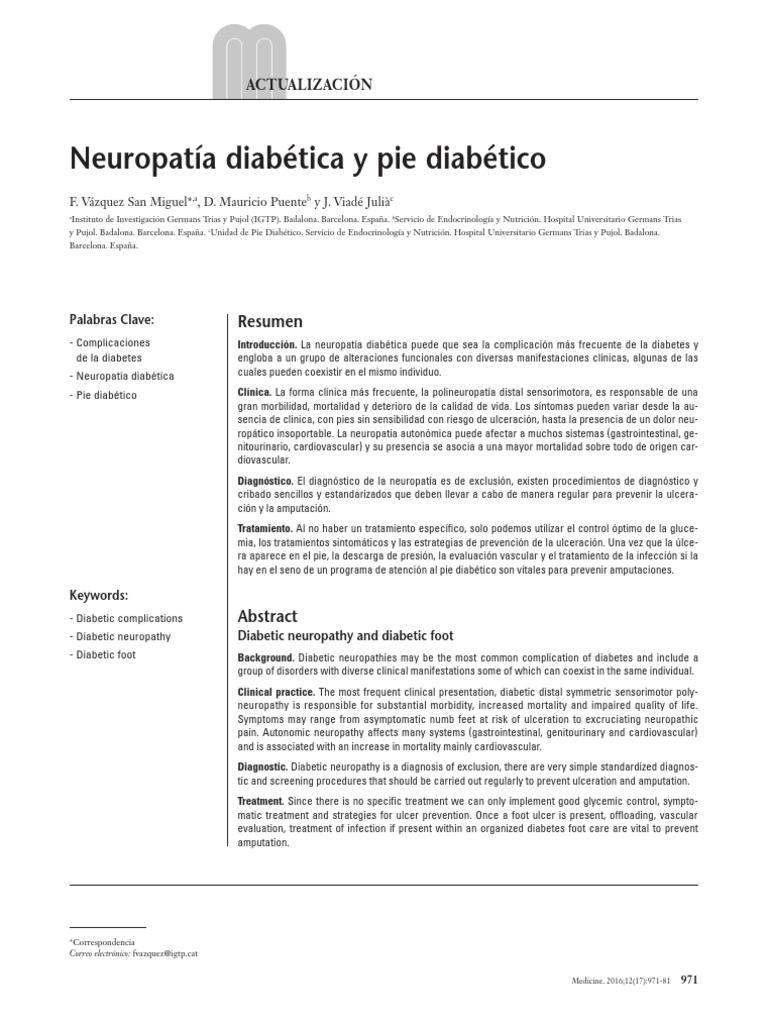diabetes de neuropatía de cuidados intensivos