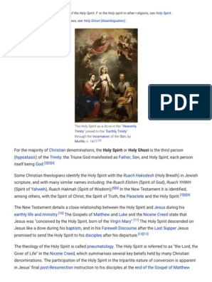 Holy Spirit in Christianity - Wikipedia (1) | God In