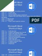 Ms. Word Shortcut Keys