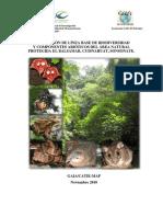 Linea Base Biodiversidad y componentes abióticos Área Natural Protegida El Balsamar