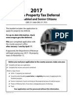 Property Tax Deferral Disabled Senior Citizens