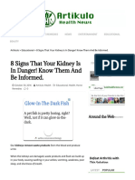 8 Signs That Your Kidney is in Danger! Know Them and Be Informed. – Artikulo