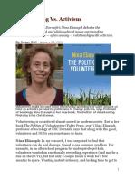 volunteering vs actiism