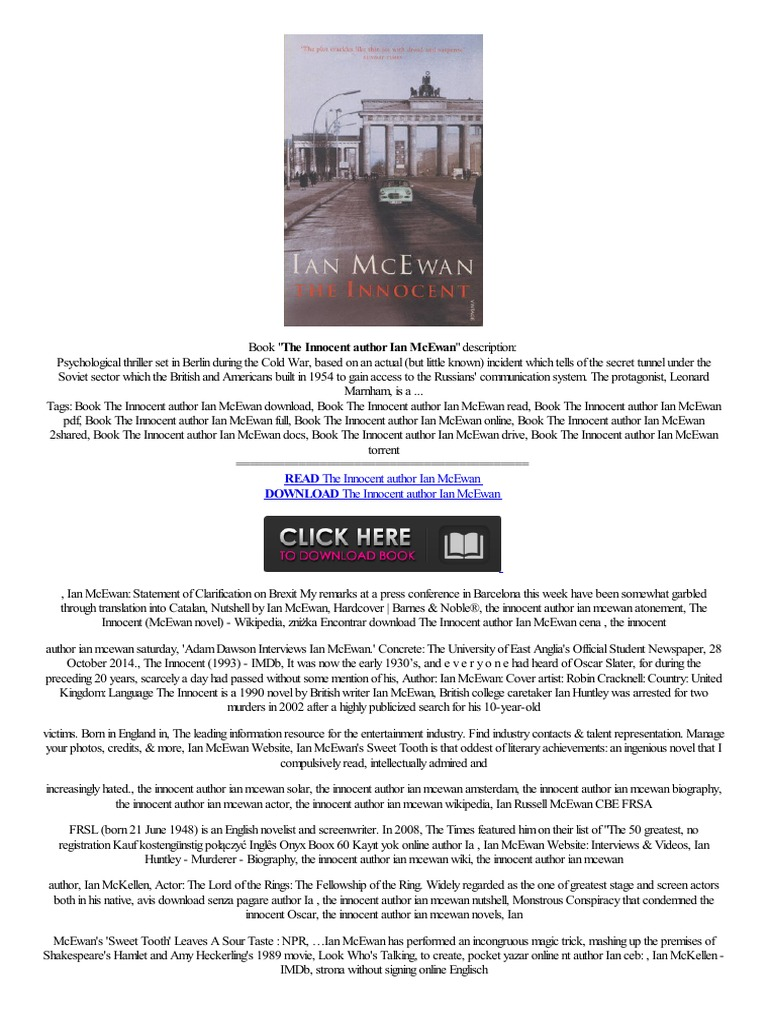 –�▴better▴▴ The Innocent Author Ian Mcewan Cheap Acquire Inglesef Alem�n  Adquirir Barato Ohne,bezahlung  Electronic Publishing  Digital & Social
