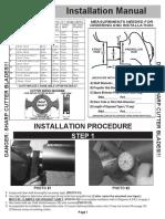 Shaft Cutter Installation Guide