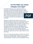 What Does the Bible Say About an Unhappy Marriage
