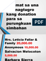 ThankYou Slide for Pew Donors and Pledgers