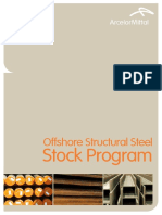 ArcelorMittal Offshore Structural Steel Stock Program